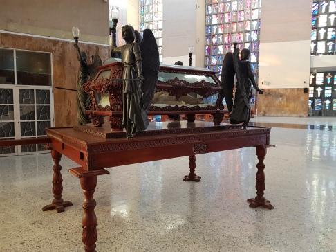Representation of Jesus in a coffin